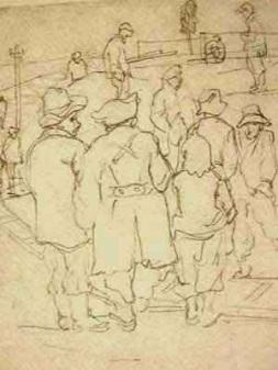 """Dessin N°72 de Boris Taslitsky : """"Le rail des wagonnets"""""""
