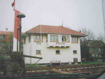La petite gare d'Ellrich, juste devant le camp.