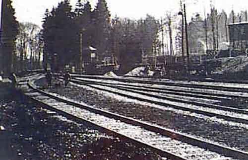 La gare, terminus de Buchenwald