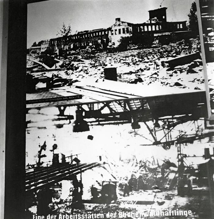 Photographie de l'usine Gustloff après les bombardements © AFBDK