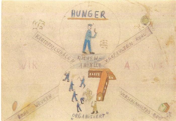 8. La faim - 7 - (copyright T. Geve et Yad Vashem)